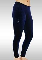 Legging lang Blaue Samt K753ma