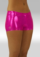 Hotpants rosa wetlook O758rz